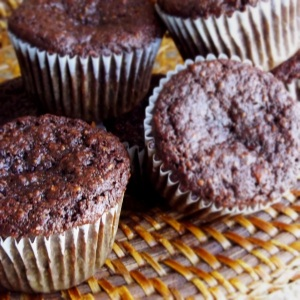 Chocolate and Banana Muffins- Made with Almond Flour and Honey