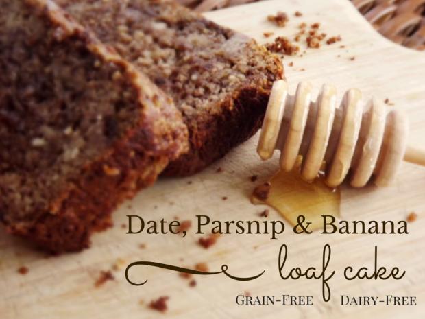 Banana, Date & Parsnip Loaf Cake