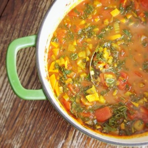 Sweet Potato Soup with Kale