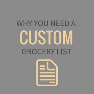 Why You Need a Custom Grocery List