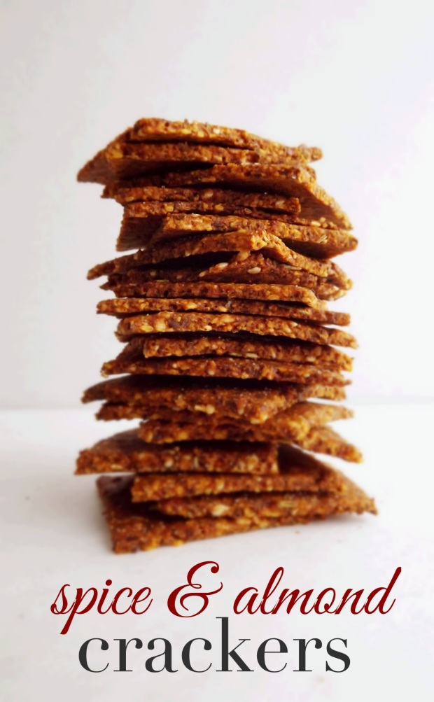 Spice Almond Crackers- Grain-free, paleo, clean eating