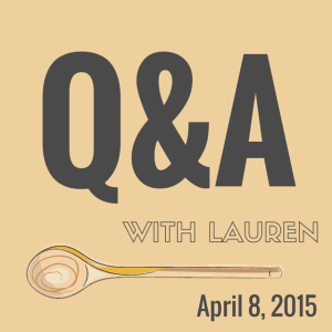 Question and Answer with Lauren