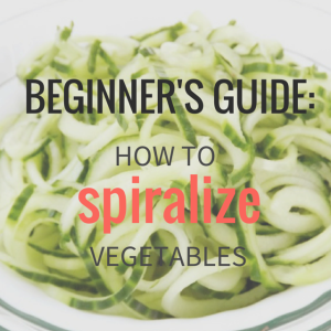How to Spiralize Vegetables