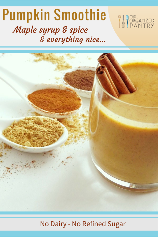 Pumpkin Smoothie- tastes like pumpkin pie in a glass! #cleaneating #paleo #delicious