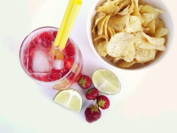 Strawberry & Lime Sparkler