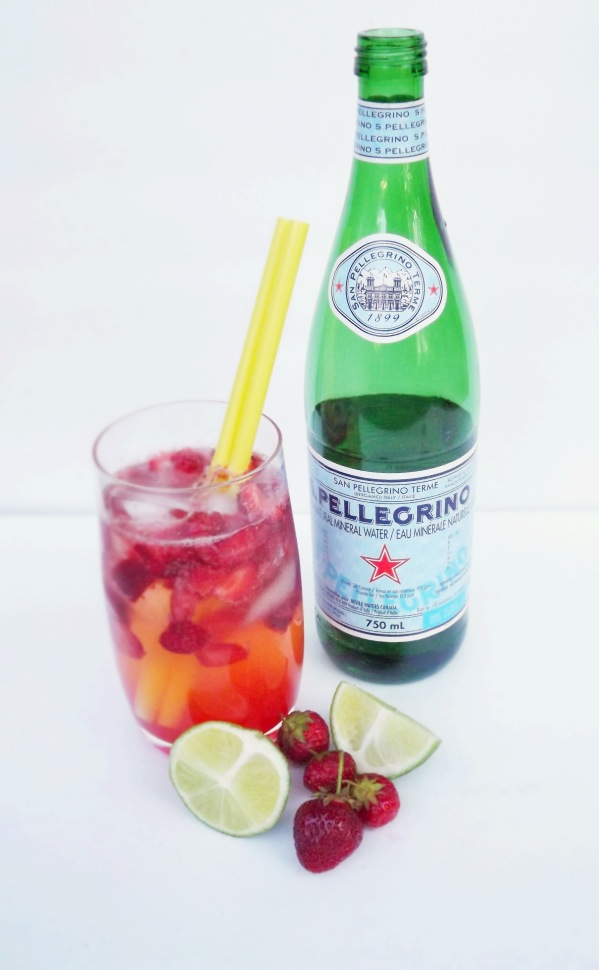 Strawberry and Lime Sparkler