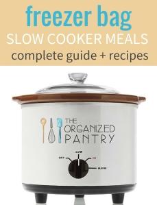 Freezer Bag Slow Cooker Cookbook Cover